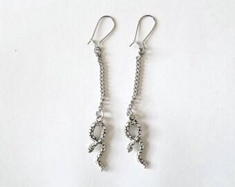 Long Dangly Snake Earrings