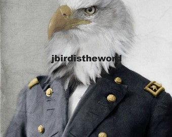 US Patriotic Decor, Large Bird Wall Art, Bald Eagle, Murica, History Teacher, Gift for Veteran, Civil War Print, American Eagle, Americana