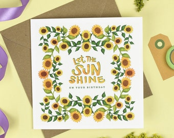 Let the Sun Shine! Birthday Card