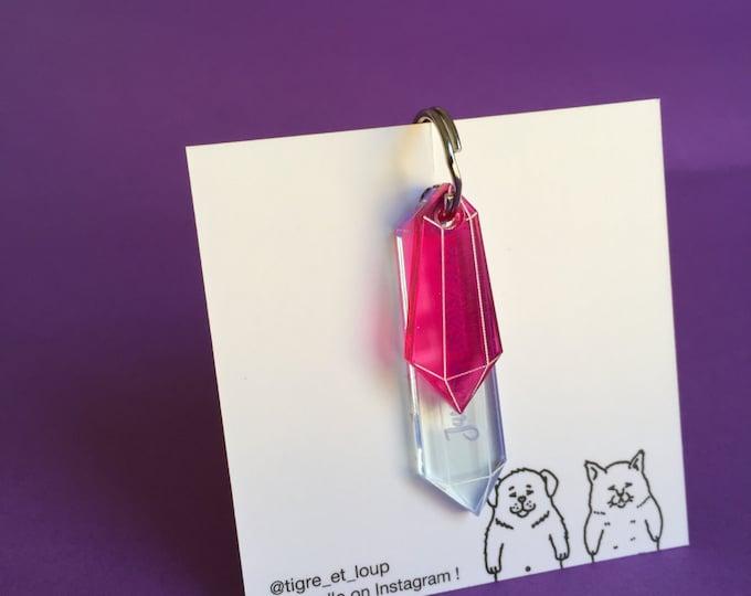 Médaillon d'identité pour chien - Cristal rose