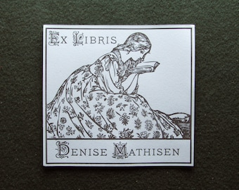 25 Custom Bookplates, Letterpress Printed