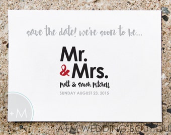 Printable Save The Date, Save The Date, Wedding, Save Our Date, CUSTOMIZED, Soon to Be Mr. & Mrs