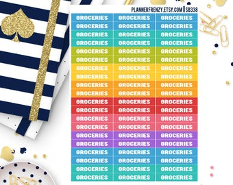 """60 """"Groceries"""" Section Header Stickers! SB338"""