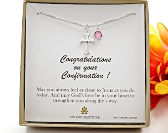Confirmation Gifts for Girls,Confirmation Necklace, Girls Confirmation Gifts, Gift from Godparent, Confirmation Gift for Girl from Parents