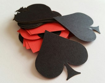 Poker Card Symbol Scrap Booking Die Cut Outs ( Embellishments, Poker Themed Party, Card Suits )