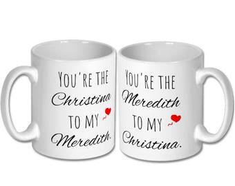 Mother's day gift,greys anatomy mug,mother daughter mug,gift for mum,christina meredith,greys fan,mug for mum,mum coffee mug,mum birthday