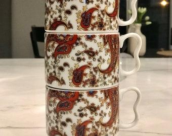 Paisly Mug Set