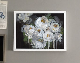 Floral Acrylic Painting Giclee