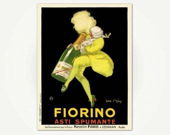 Fiorino Asti Spumanti Poster Print - Vintage Italian Sparkling Wine Poster - Champagne Poster Art
