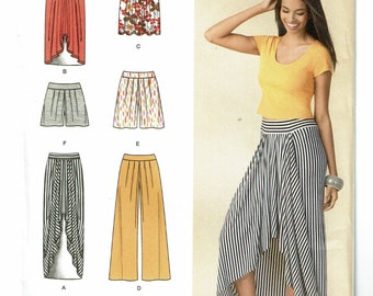 Simplicity Pattern 1429 Misses' Pull On Knit Skirt, Pants or Shorts Size H5 (6-14) and U5 (16-24) UNCUT