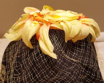 Vintage Yellow Netting Hat