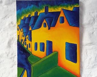 "Original Oil Painting, Original Landscape Painting, Colorist Art, Original Oil Painting on Canvas 16""x20"" Impressionist Art Expressionism"
