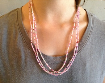 3 Strand Seed Bead Necklace