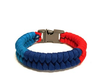 BMW M Series Performance Paracord Survival Bracelet with Stainless Steel Buckle