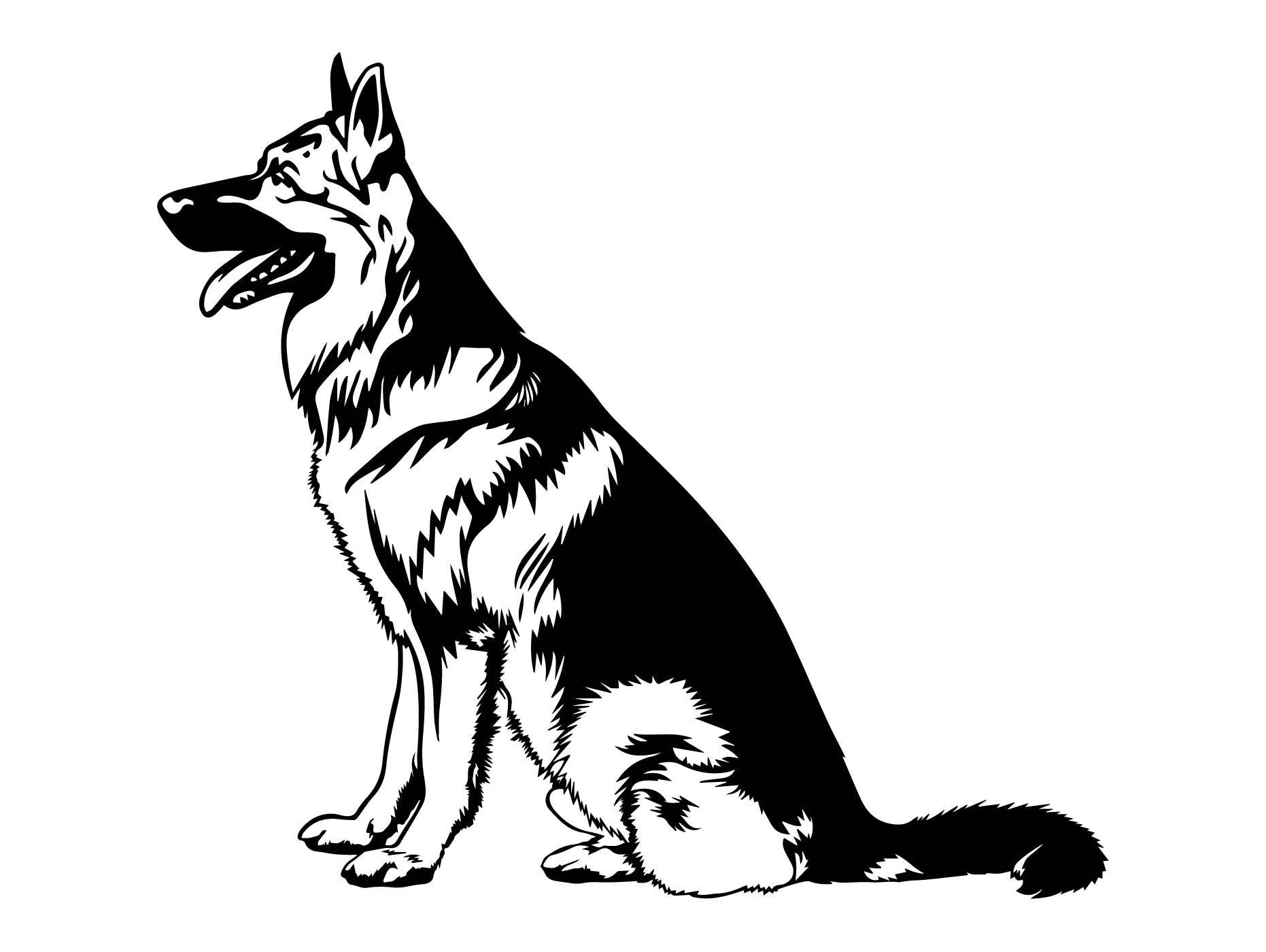 Pastor Alemán #11 perro raza K-9 animales mascotas Policía