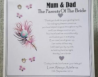 Parents wedding card Etsy