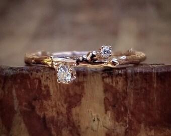 Diamond Rose Gold Band Diamond Rose Gold Wedding Band Women Rose Gold Ring Diamond Band Rose Gold Wedding Ring Rose Gold Wedding Bands Women