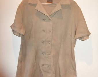 khaki green vintage top sz 16
