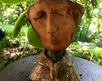 Clay Planter Head