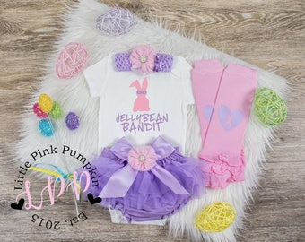 First Easter Outfit Girl 1st Easter Outfit Baby Girl Easter Outfit Newborn Easter My First Easter Girl Newborn Easter Jelly Bean Bandit