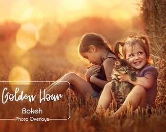 Gold Bokeh Overlays, Light Photo Overlays, Sunlight overlays, Bokeh, Light overlays, Toning overlays, Bokeh overlay, Christmas overlay