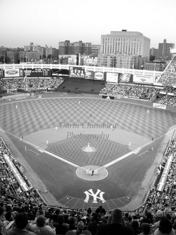 Items similar to fine art photography old yankee stadium new york city black and white on etsy