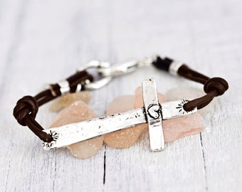 Faith Runs Deep Bracelet - Cross Bracelet -Inspirational Bracelet- Faith Jewelry - B436
