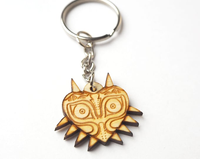 Majoras Mask Keychain | Laser Cut Jewelry | Wood Accessories | Wood Keychain