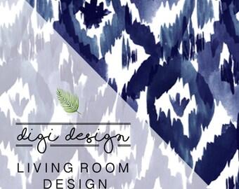 DIGI • DESIGN | Living Room + Free Art Print