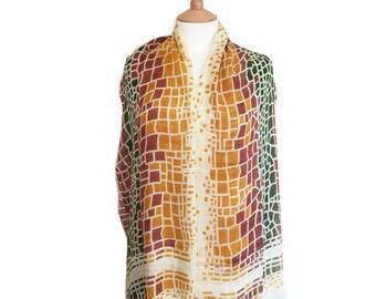 Bohemian Print Scarfs/Summer Sale Scarf/Cream Yellow Scarves/GreenBrown Scarfs/Shawl/Shawls/Wrap/Wraps/Cloak/Rebozo,/Gift/Muffler/Sarong/Tie