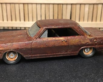 Custom Hot Wheels 1963 Chevy II Abandoned Neglected look