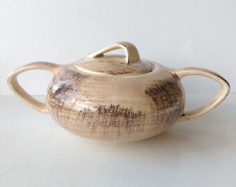 Vernon Kilns Barkwood Sugar Bowl and Lid