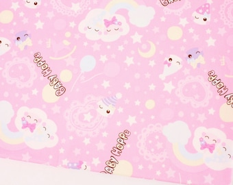 """Japanese Baby Hoppe Character Oxford Fabric made in Japan FQ 50cm by 53cm or 19.5"""" by 21"""""""