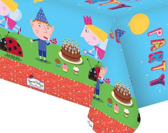 Ben and Holly tablecloth - pre school party - masks - party - Toddler Birthday party - Ladybugs - Ladybirds