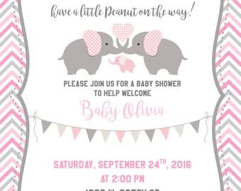 5x7 Little Peanut Baby Shower Invitation