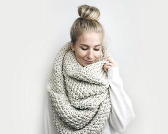 Infinity Blanket Scarf, Chunky Knit ⨯ The Jacmel