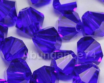 Clearance Sale - 12pcs Swarovski Elements - Swarovski Crystal Beads 5301 8mm Bicone Beads - Cobalt