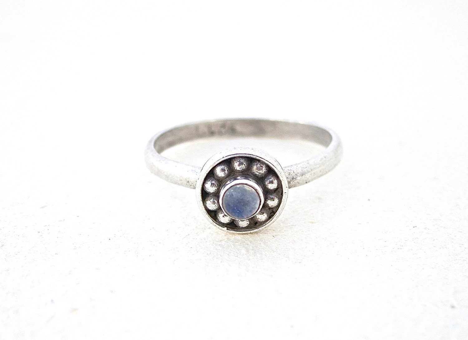 Moonstone Silver Ring Stone Ring Unique Jewelry Womens