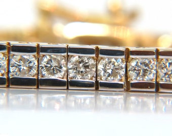 4.00CT Round Diamonds Bracelet H VS A+ Full Cuts 14KT Channel