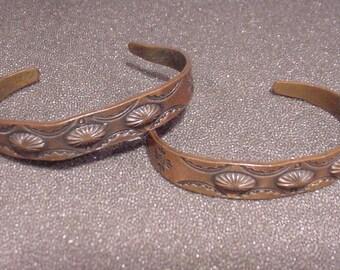 TWO LOVELY Copper Bracelets, Raised egg shapes & overall design