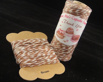 Brown Bakers Twine - 8 ply, 100% cotton Bakers Twine