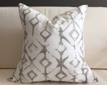Pillow Cover, Gray Ikat Pillow Cover, ALEX