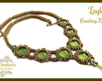 "Only Beads Kit : ""Layla""Necklace in English D.I.Y."
