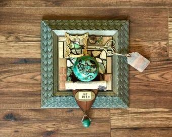 Be Wild, Assemblage Art, Altered Art, Collage Art, 3D Art, Mosaic Art