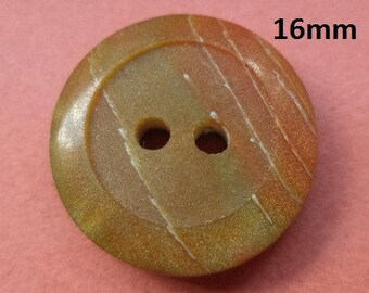10 buttons Green Brown 16 mm (5746)
