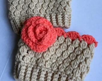 Crocheted Boot Cuffs, Womens Boot Cuffs, Boot Toppers