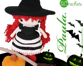 Paula - Crochet Amigurumi Pattern | Special Halloween Witch Doll