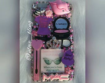 iPhone 6 + Shining Bright Makeup Luxury Bling Case