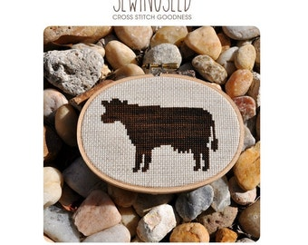 Cow Silhouette Cross Stitch Pattern Instant Download