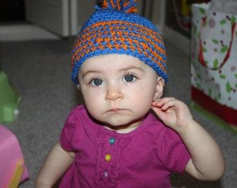 Crocheted baby gator hat